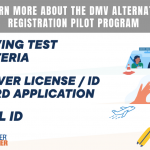 DMV ALTERNATIVE REGISTRATION PROGRAM